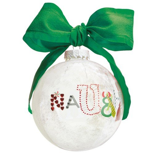 Santa Glass Ball Ornament - Santa Barbara Design Studio Lolita Holiday Moments Glass Ball Ornament, Naughty and Nice