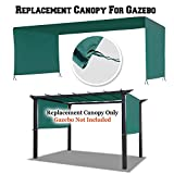 BenefitUSA 18' L x 8.3' W Universal Replacement Canopy Top Cover for Pergola Structure (L x W) Gazebo