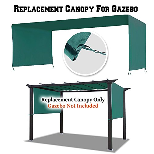 BenefitUSA 18' L x 8.3' W Universal Replacement Canopy Top Cover for Pergola Structure (L x W) Gazebo by BenefitUSA