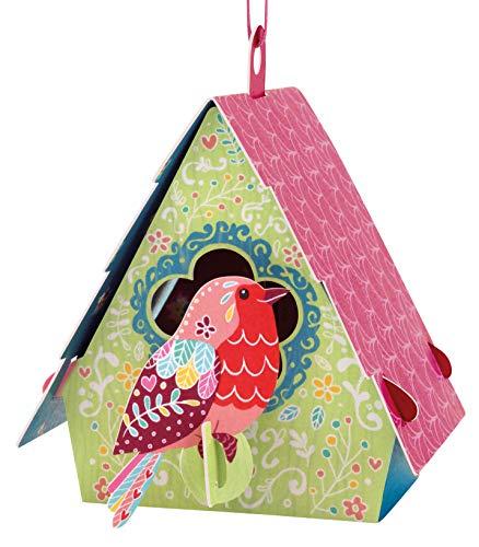 Santoro 3-D Chandeliers Greeting Card - BIRD HOUSE (ROBIN) (Robins Chandelier)