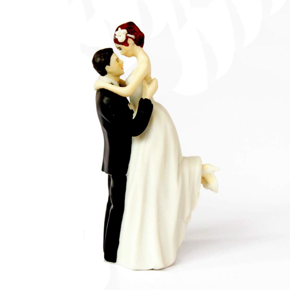 JIAHUADE Painted Resin Crafts Business Home Furnishings Festive Wedding Bride and Groom