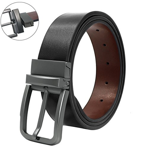 Belts for Men Genuine Leather Dress Belt Reversible with 1.3
