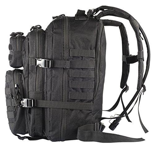 c50d8b3de5 Amazon.com   Kragzmen Tactical Backpack 3-Day Assault Pack w 2L Hydration  Bladder   Para Cord Survival Bracelet - 45 Liter Military Rucksack (Spec  Ops ...