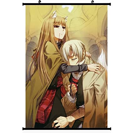 1 X Spice And Wolf Anime Wall Scroll Poster Horo Craft Lawrence 24 35 Support Customized