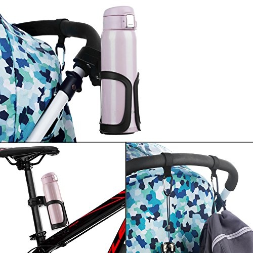 Pack of 2 Stroller Cup Holder 360 Degrees Rotation and Clip for Baby Kids Stroller Mountain Bike Wheelchair Golf cart Carry Coffe Cup Water Bottle Baby Accessories by tengdal (Image #5)