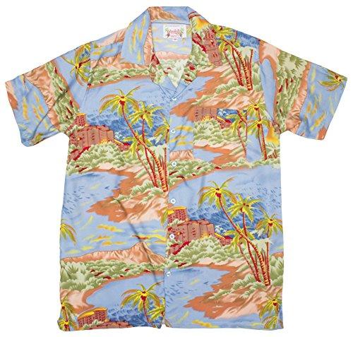 ragstock-mens-palm-tree-beach-building-print-hawaiian-shirt-grey-x-large