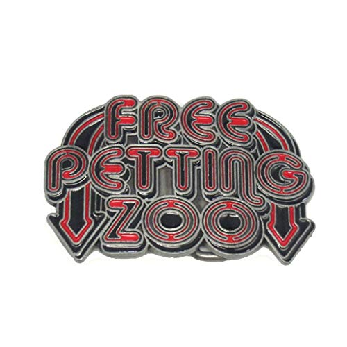 Western Belt Buckles Animal Free Petting Zoo Colored Novelty Belt Buckle for Men Women Girls Loved Pet ()
