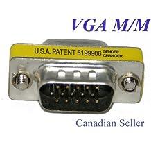 VGA HD15 Mini Gender Changer Coupler, Male to Male