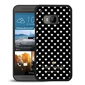 New Fashion Custom Designed Kate Spade Cover Case For HTC ONE M9 Black Phone Case 179