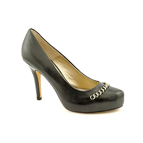Isola Womens Coral Leather Closed Toe Classic Pumps Black Size 8.0
