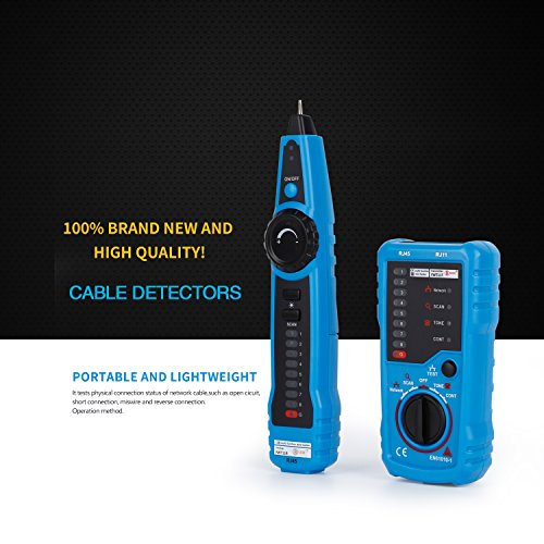 RJ11 RJ45 Cable Tester, LESHP Multifunction Electric Wire Finder Tracker Detector by LESHP (Image #1)