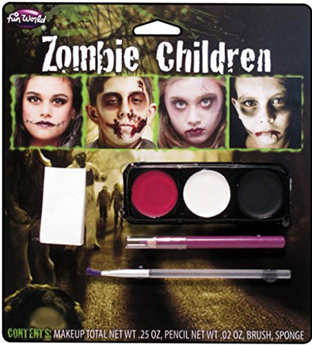 [Zombie Make Up Kit] (Zombie Halloween Costume Makeup)