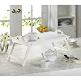 Sit and Relax tea time with Wood White Folding Tray
