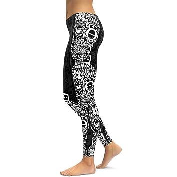 WHFDDDK Enfermera Skull Yoga Leggings Yoga Pantalones ...