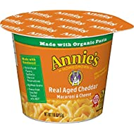 Annie's Macaroni and Cheese, Microwave Cups, Pasta & Real Aged Cheddar Mac and Cheese, 2.01 oz Cup (Pack of 12)