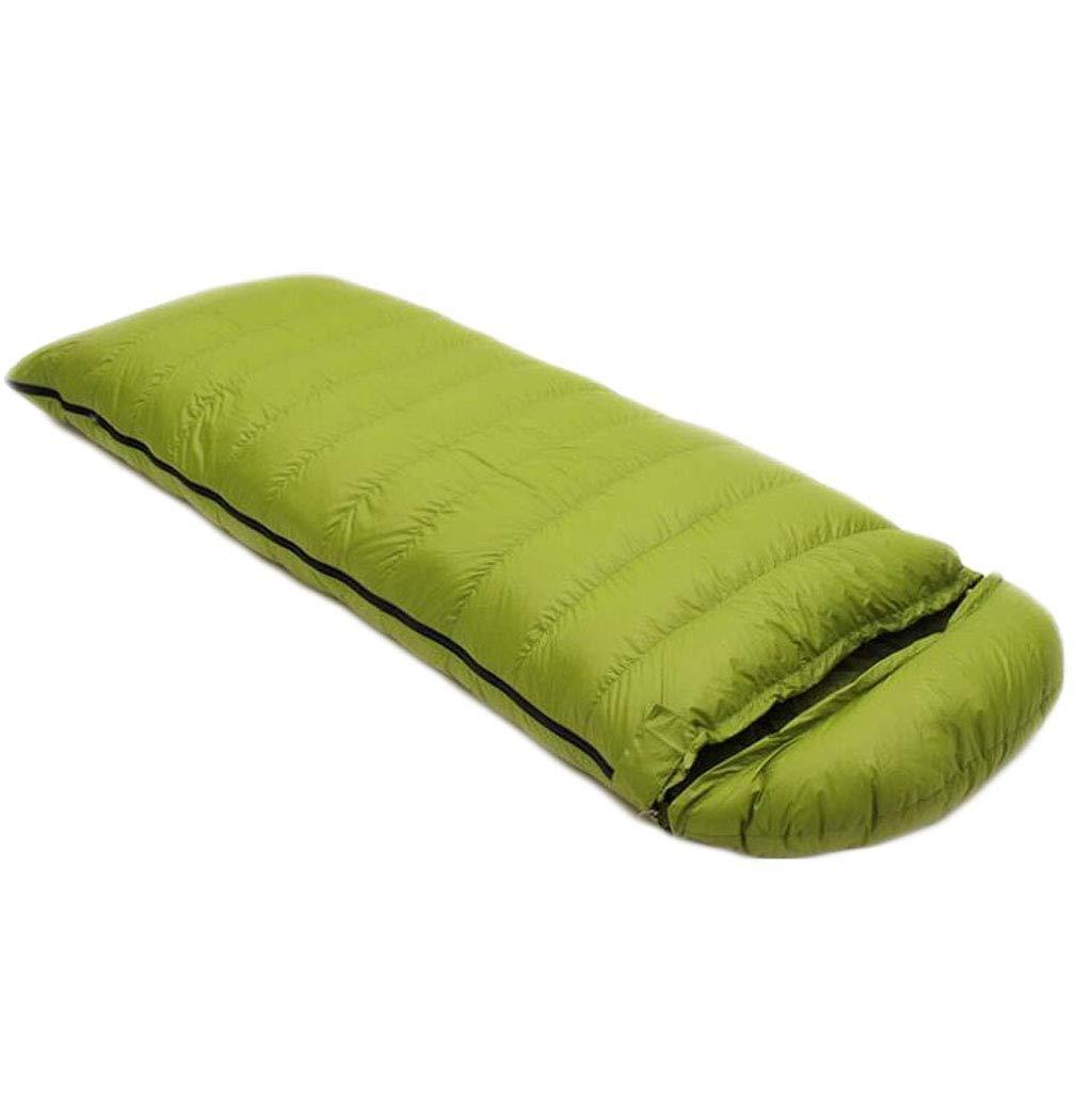 アウトドアアダルトキャンプの寝袋四季登山封筒超ライトダウン寝袋用トレッキングバックパック旅行 (色 : 青, サイズ さいず : 1.0kg) B07QLTG6CV 緑 1.5kg 1.5kg|緑