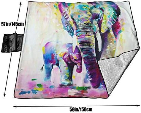 Suo Long Coperta da Picnic Coperta da Spiaggia Colorata Vintage Vintage Elefante Indiano PIC Mat
