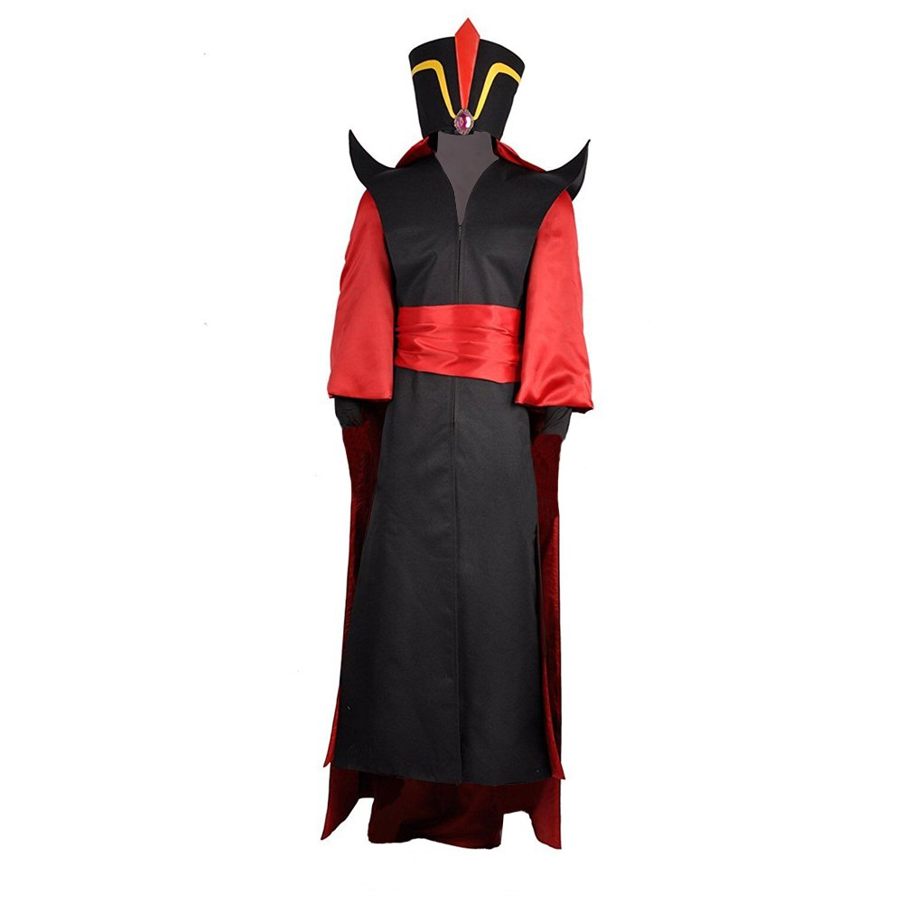 Aladdin's lamp Wizard Jafar Coat Cosplay Costume with Hat