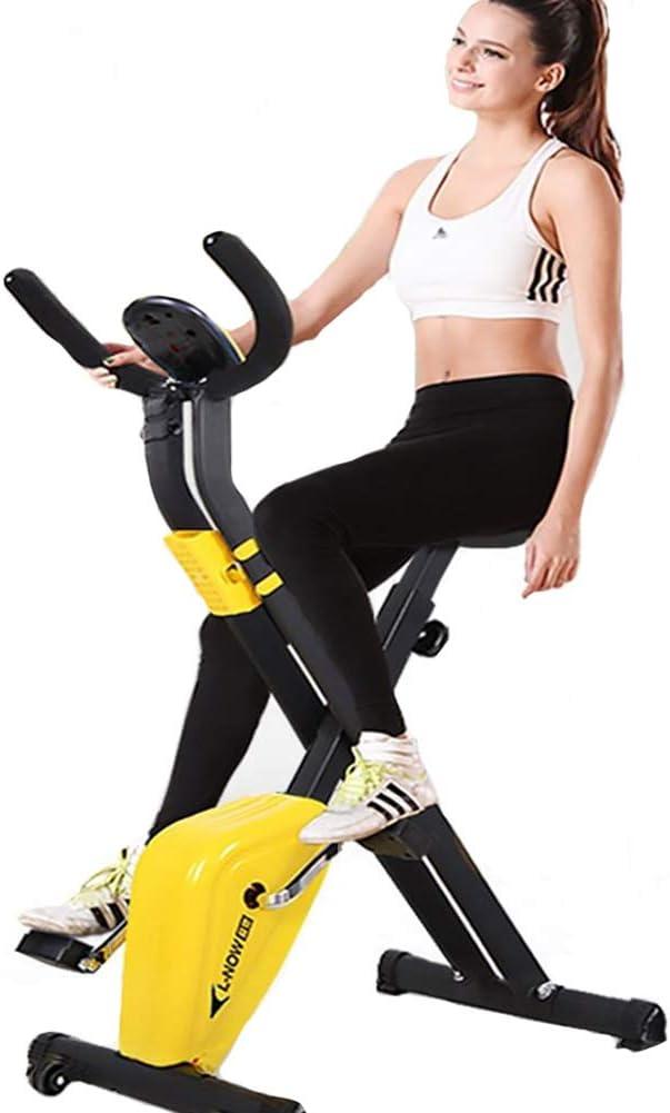 NOBUNO Indoor Cycling Bikes Mini Exercise Bike Spinning Bike Foldable Domestic Gym Machine Fitness Equipment Sports Cycling Fitness Bike