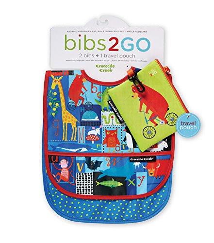 Crocodile Creek 3212-9 ABC Bear & Friends Infant, Pack of Bibs, Standard, Multicolor