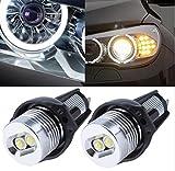 (US) WISWIS Xenon White 20W CREE High Power LED Angel Eyes Halo Ring Marker Bulbs for BMW 3 Series E90 E91 328i 328xi 335i 335xi 325i 325xi 330i 330xi