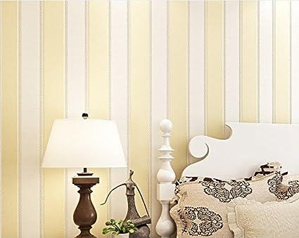 Moderno papel pintado rayas verticales con purpurina tela rollo de ...