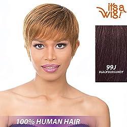 It's A Wig! - it's a Cap Weave! 100% Human Hair Full Wig - HH MON AMI (99J - Black Burgundy)