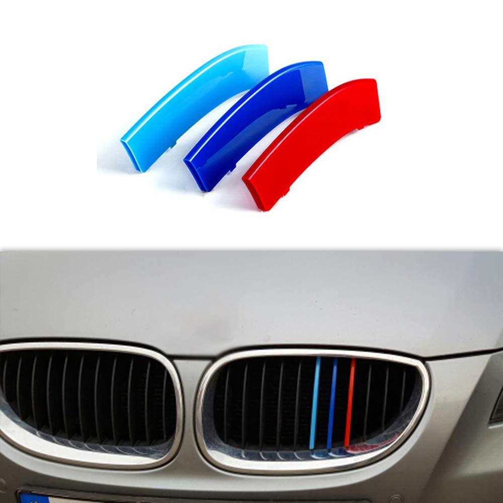 10 Grilles carado Front Grille Grill Cover for BMW 5 Series E39 520i 535i 525i 528i 530i 1995-2003 M Color Insert Trim Clips 3Pcs