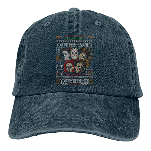 (Mens Womens Funny Michael Myers and His Accomplices - Halloween Adult Cowboy Cap)