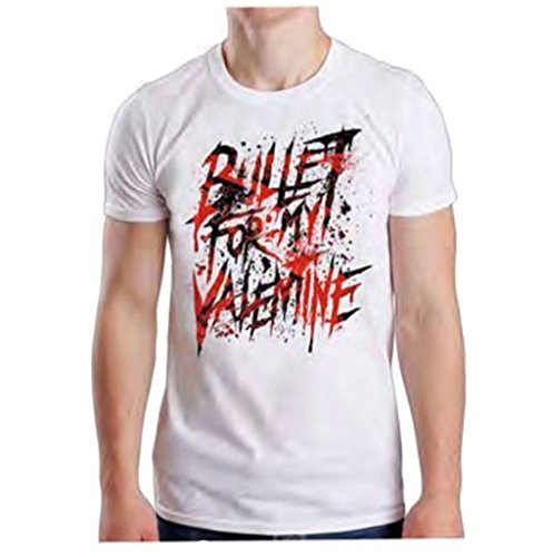 Global Bullet for My Valentine Men's Splattered T-Shirt White XL