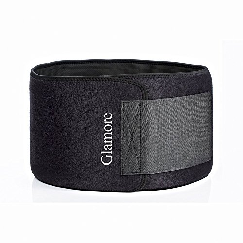 Waist Trimmer, Abdominal Fitness Workout Slimming Sweat Belt Fully Adjustable Impact Resistant Exercise Waist Trainer belts for Men and Women, Black