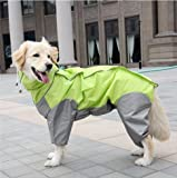 Flyingpets Dog Raincoats for Small Dogs - Small Dog Raincoat - Pet Big Dog Raincoat Waterproof Clothes for Small Large Dogs Jumpsuit Rain Coat Hooded Overalls Cloak Labrador Golden Retriever.