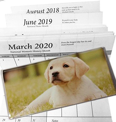 3 Year Lab Puppy Pocket Calendar Planner 2018 - 19 Plus 2020 Labrador Retriever (Puppies Book Address)