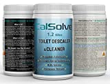 Toilet Cleaner LIMESCALE Remover Toilet DESCALER - Concentrated Formula Remove All Stubborn Toilet Stains - CalSolve Toilet DESCALER - Dissolve Urine Scale Destroys Smell - 50 Doses 1.2 kgs
