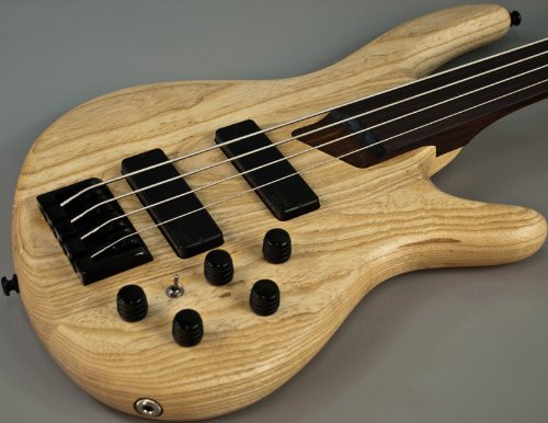 Ash Bass (New Cort Artisan Fretless Swamp Ash Electric Bass Guitar w Bartolinis)