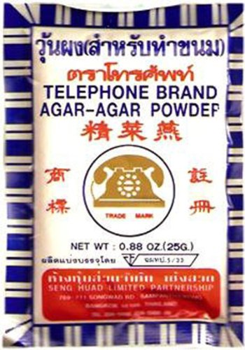 Telephone Brand Agar- Agar Powderg 1 Bag 25 G Thai by Telephone Brand