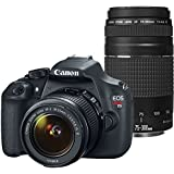 Canon EOS Rebel T5 Digital SLR Camera with EF-S 18-55mm IS II + EF 75-300mm f/4-5.6 III Bundle (Certified Refurbished)
