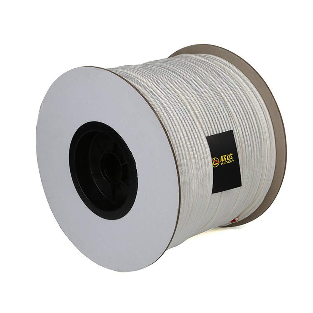 ZWYY Cuerda para Escalada, Cuerda de Alta Resistencia para Uso en Exteriores Resistente al Desgaste Cuerda de Seguridad para Entrenamiento contra Incendios,White,90m