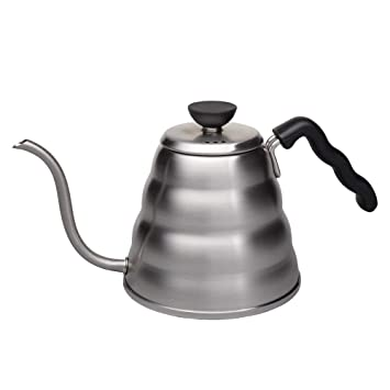 Amazon.com  Hario V60 Buono Stainless Steel Gooseneck Coffee Kettle ... 669e9ebc24e