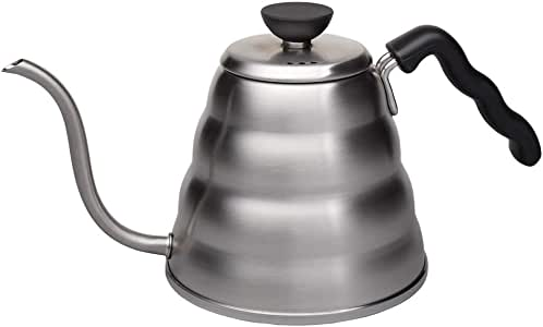 Hario V60 Buono Gooseneck Coffee Kettle, Stovetop (1.2L/ 1200 mL), Stainless Steel, VKB-120HSV