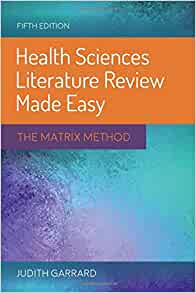 Health Sciences Literature Review Made Easy The Matrix