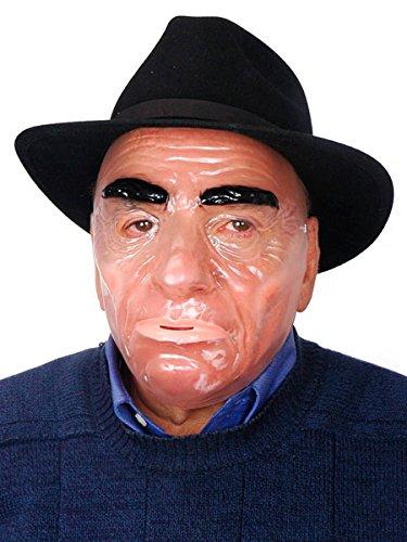 Transparent Mardi Gras Men's Mask -