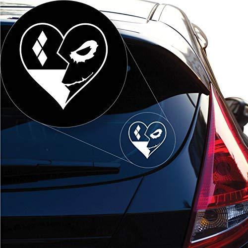 coorhomo Harley Quinn Loves Joker Batman Decal Sticker for Car Window, Laptop -