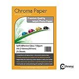 Chroma - A4 Fully Self-Adhesive High Gloss Inkjet Photo Paper - Premium Grade 130gsm (25 Sheets)