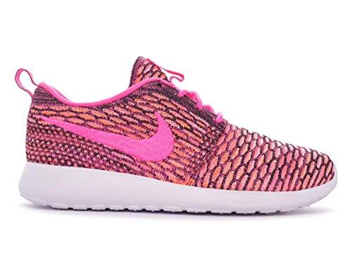 Nike Roshe Flyknit, Scarpe da Corsa Donna Black/Pink Pow-White-Ttl Orng