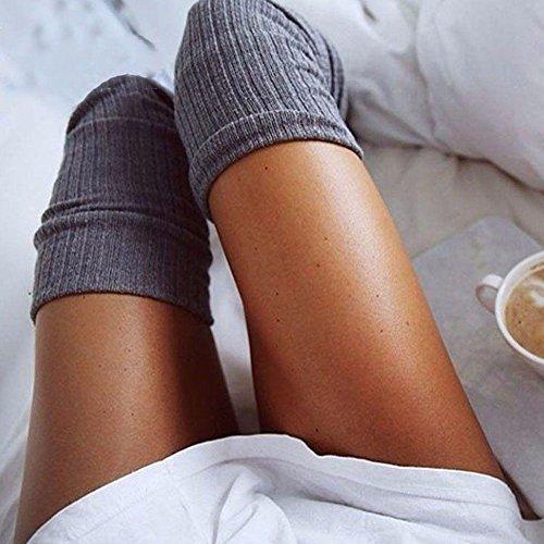 ginocchio Warm high sopra donne Knit thigh calze JYWB lunghe Boot il wq4If4O