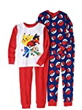 Pokemon Boys Cotton Thermal 4-Piece Underwear Sleepwear Set (8)