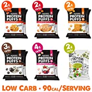 Shrewd Food Low Carb Keto Protein Puffs Variety 12 Pack | 14g Protein per Serving, Low Carb, Gluten Free Snacks | No Artificial Flavors | Soy Free, Peanut Free