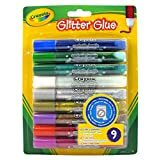 Crayola Washable Glitter Glue, Assorted Colors 9 ea