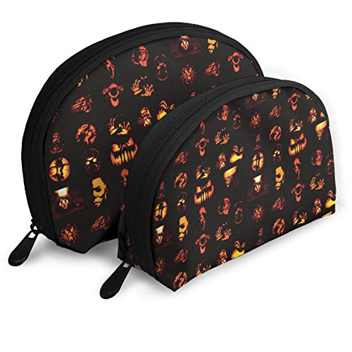 ElephantAN Halloween Pumpkins Pattern Multifunction Shell Portable Bags,Storage Bag,Buggy Bag,Travel Cosmetic Bags,Small Makeup Clutch,Pouch Cosmetic,Toiletries Organizer Bag ()